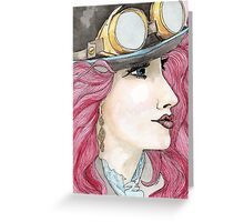 Illustrated Girl 3 Greeting Card