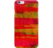 FIERCE - Intense Wild Nature Masculine Stripes Abstract Watercolor Painting Design Urban Fine Art iPhone Case/Skin