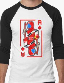 JAKQ - the Ace of Spades (White) Men's Baseball ¾ T-Shirt