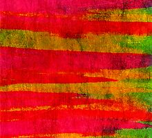 FIERCE - Intense Wild Nature Masculine Stripes Abstract Watercolor Painting Design Urban Fine Art by EbiEmporium