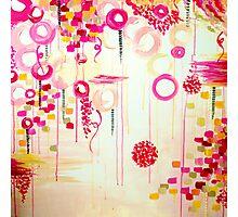 Bubblegum POP! Beautiful Cheerful Bubbles Pretty Pink Feminine Abstract Acrylic Painting Sky Photographic Print