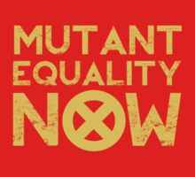 X-Men Mutant Equality NOW Red T-shirt by chadkins