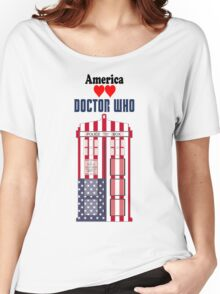 I Heart Doctor Who (USA TARDIS) Women's Relaxed Fit T-Shirt