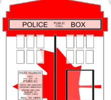 I Heart Doctor Who (Canada TARDIS) Sticker