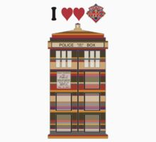 I Heart Doctor Who (4th Doctor Scarf TARDIS) by DewiAeon