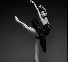 Leaping Ballerina in Black by Cheatahgirl54