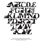 Alphabet zoo black and white by Budi Satria Kwan