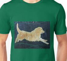 One Golden Retriever - Print of Embroidered Textile Unisex T-Shirt