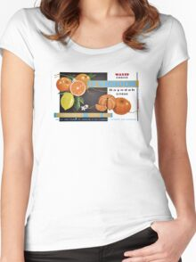 Waxed Choice Fruit Label Women's Fitted Scoop T-Shirt