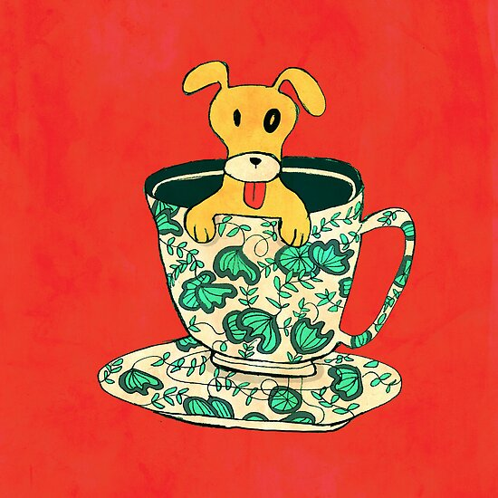 Puppy in a teacup by Budi Satria Kwan
