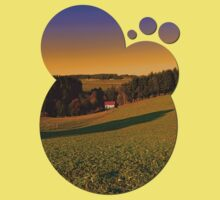 Beautiful sundown in the countryside | landscape photography Kids Clothes