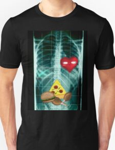 Xray & Derp Love for Food  Unisex T-Shirt