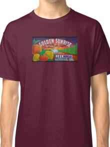 Golden Sunrise Fruit Label Classic T-Shirt
