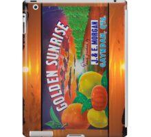 Golden Sunrise Fruit Label iPad Case/Skin
