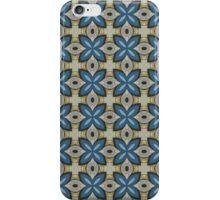 Blue floral abstact design iPhone Case/Skin