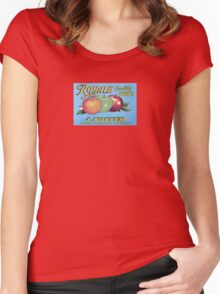 Royale Quality Fruit Label Women's Fitted Scoop T-Shirt