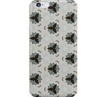 black white floral pattern iPhone Case/Skin