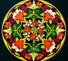 The Green Man Mandala by Marg Thomson by fullcirclemandalas  is Marg Thomson