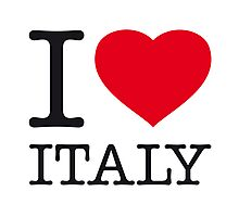 I ♥ ITALY Photographic Print