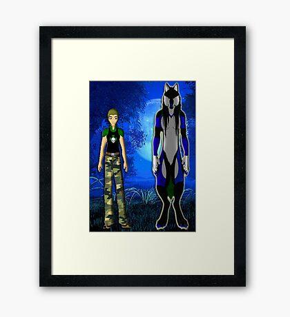 Matthew The Werewolf King Framed Print