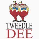 Tweedle Dee Couple T-Shirts  by diannasdesign