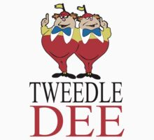 Tweedle Dee Couple T-Shirts  by diannasdesign
