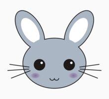 Cute Blue Kawaii Bunny Kids Clothes