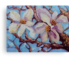 Magnolia Flower Painting Oil on Canvas Fine Art by Ekaterina Chernova Canvas Print