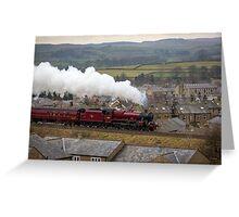 The Galatea Races North towards Carlisle, via Settle Greeting Card