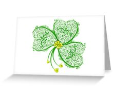 Lucky Filigree Clover Nr. 06 Greeting Card