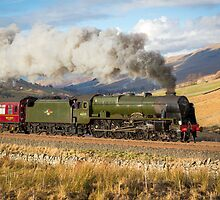 The Scots Guardsman Blasting up Ais Gill by Jan Fialkowski