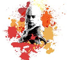 Daenerys Orange Colour Splash by Impala-Designs