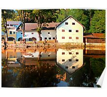 River reflections at the mill | waterscape photography Poster