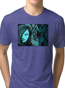 Star City Girl Blue Tri-blend T-Shirt