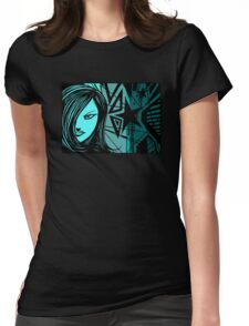 Star City Girl Blue Womens Fitted T-Shirt