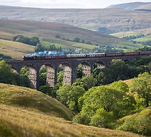 The Great Marquess Travels South over Dent Viaduct by Jan Fialkowski