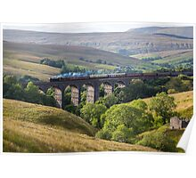 The Great Marquess Travels South over Dent Viaduct Poster