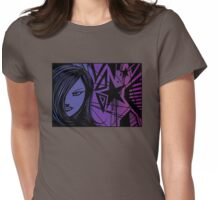 Star City Girl Purple Womens Fitted T-Shirt