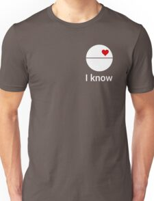 I know (death star) white Unisex T-Shirt