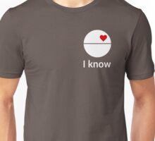 I know (death star) white Unisex T-Shirt