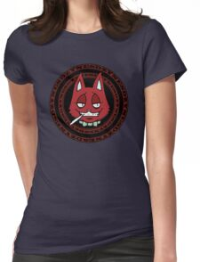 J-Cat Circle Red Womens Fitted T-Shirt