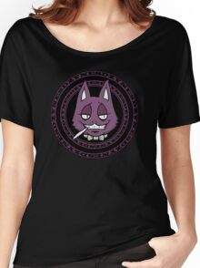 J-Cat Circle Purple Women's Relaxed Fit T-Shirt