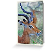 Profile Perfection Greeting Card