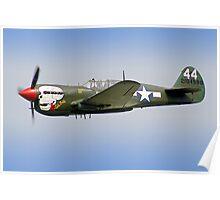 """Curtiss P-40M Kittyhawk -  """"Lulu Belle"""" - Dunsfold 2013 Poster"""