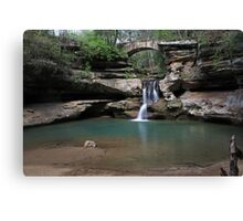 Old Mans Cave waterfall Canvas Print