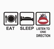 eat sleep listen to one direction by diannasdesign