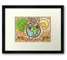 Earth is Our Home! Framed Print