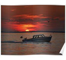 Lyman cruise at sunset Poster