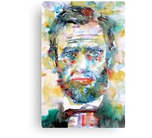 ABRAHAM LINCOLN - watercolor portrait Metal Print