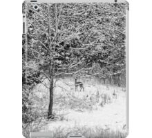 Peering Out - Deer BW iPad Case/Skin